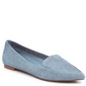 Essex Lane Blue Suede Aleanor Loafer